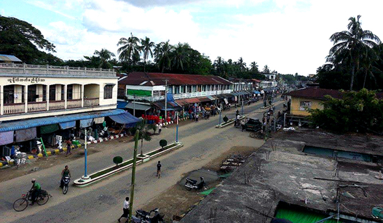 The view of Maungdaw main road
